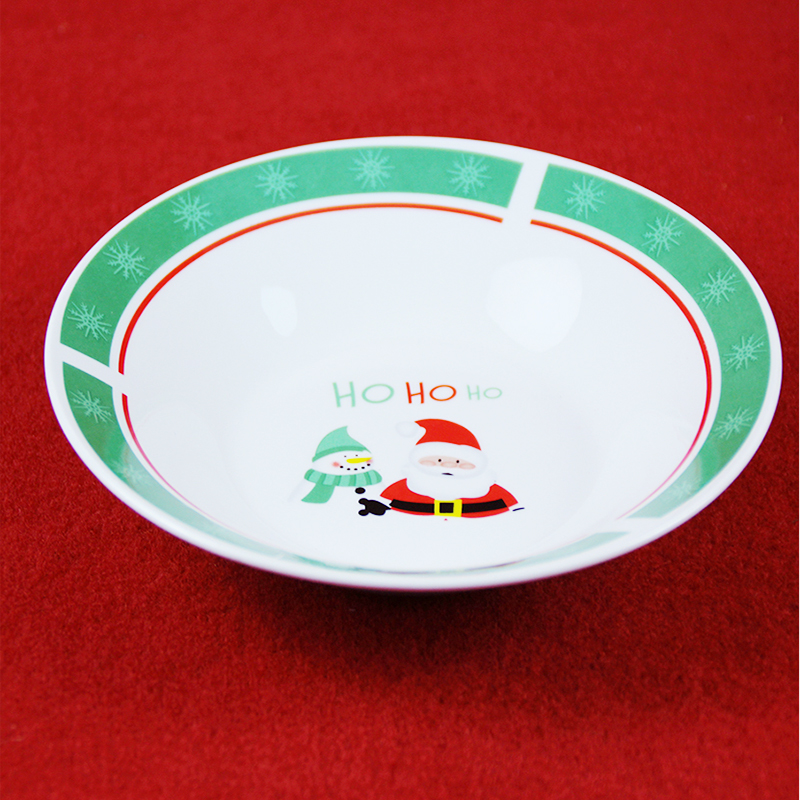 China custom printed decal ceramic bowl