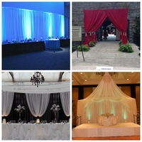 WHOLESALE event wedding aluminum backdrop stand pipe drape LOWEST PRICE outdoor wedding tent lighting