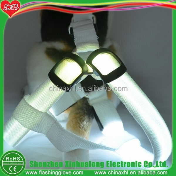 Promotion pet harness LED dog harness