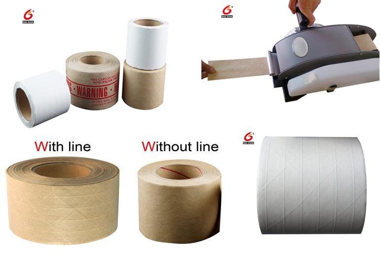 Washable Kraft Paper Tape , Water Activate Kraft Tape In Adheive Tape For Packaging