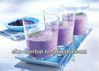 natural and pure blueberry juice powder