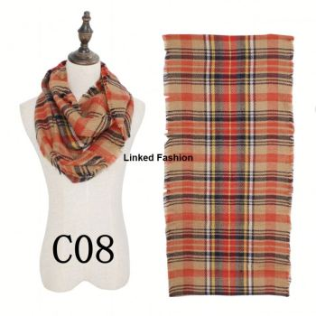 2018 fashion 19 colors stock new winter snood tartan plaid infinity scarf