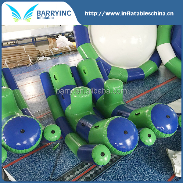 new design inflatable water seesaw with double tubes for adult
