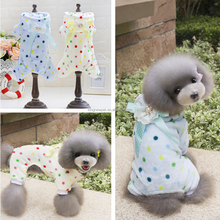 Cute Dog Pajamas Heat Clothes Round Dot Pattern Hoodies Pet Coat With Four Legs