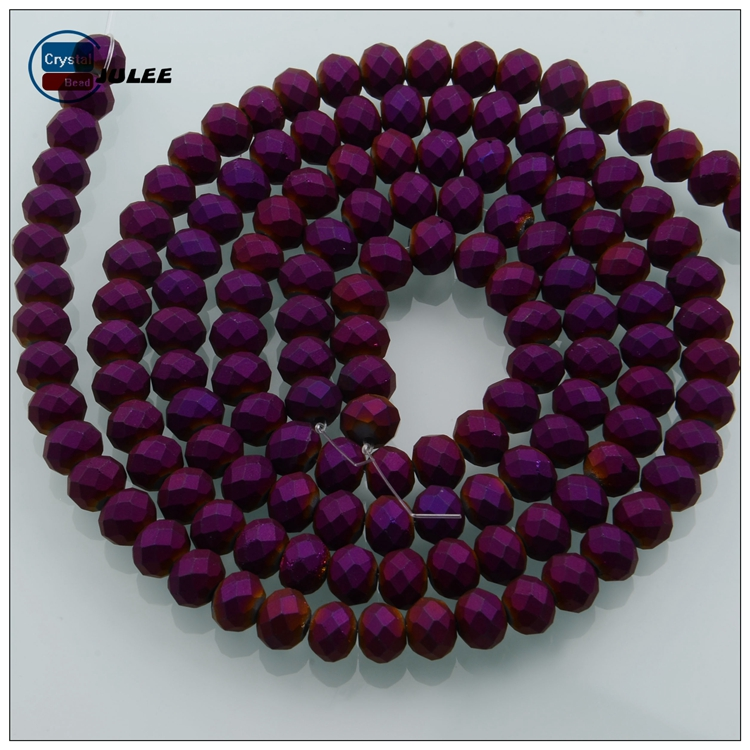 Crystal manufactory outlets rondelle beads for aquarium wholesale 6mm glass beads for jewelry making