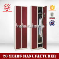 Good Price 2015 New Design steel furniture 2 door wardrobe modem cabinet
