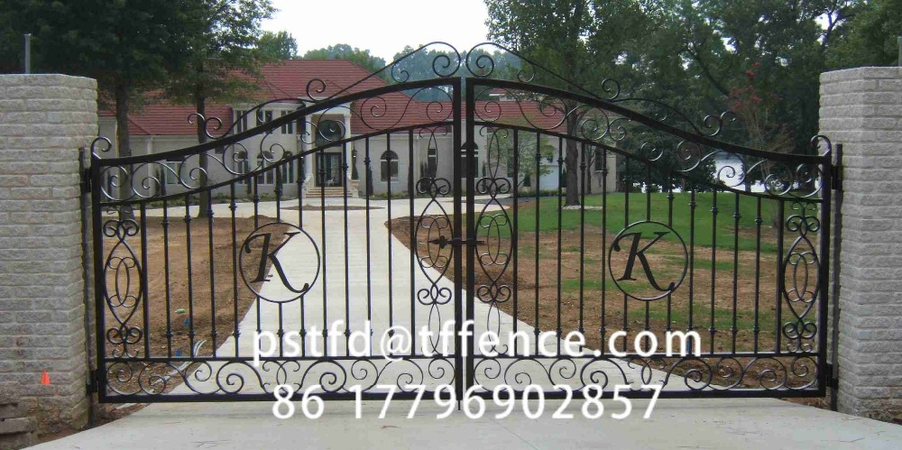 Wholesale high quality Used wrought iron gates reliable grill gate cast iron gate design
