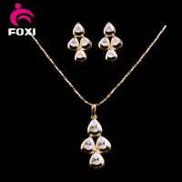 Alibaba 18k Gold Plated Jewelry set necklace earring jewellery sets