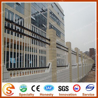 Exporting standard Security tubular steel fence Brick fence designs