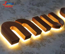 Color Lighting Signage 3D LED Business Signs Small Acrylic Letters