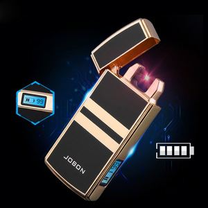 2018 New Plasme USB Electric Lighter Tiger 389 double Arc Lighter wholesale