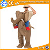 Large size inflatable moving cartoon, inflatable elephant costume adult