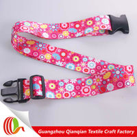 2014 Printed plastic travel luggage belt for luggage bag