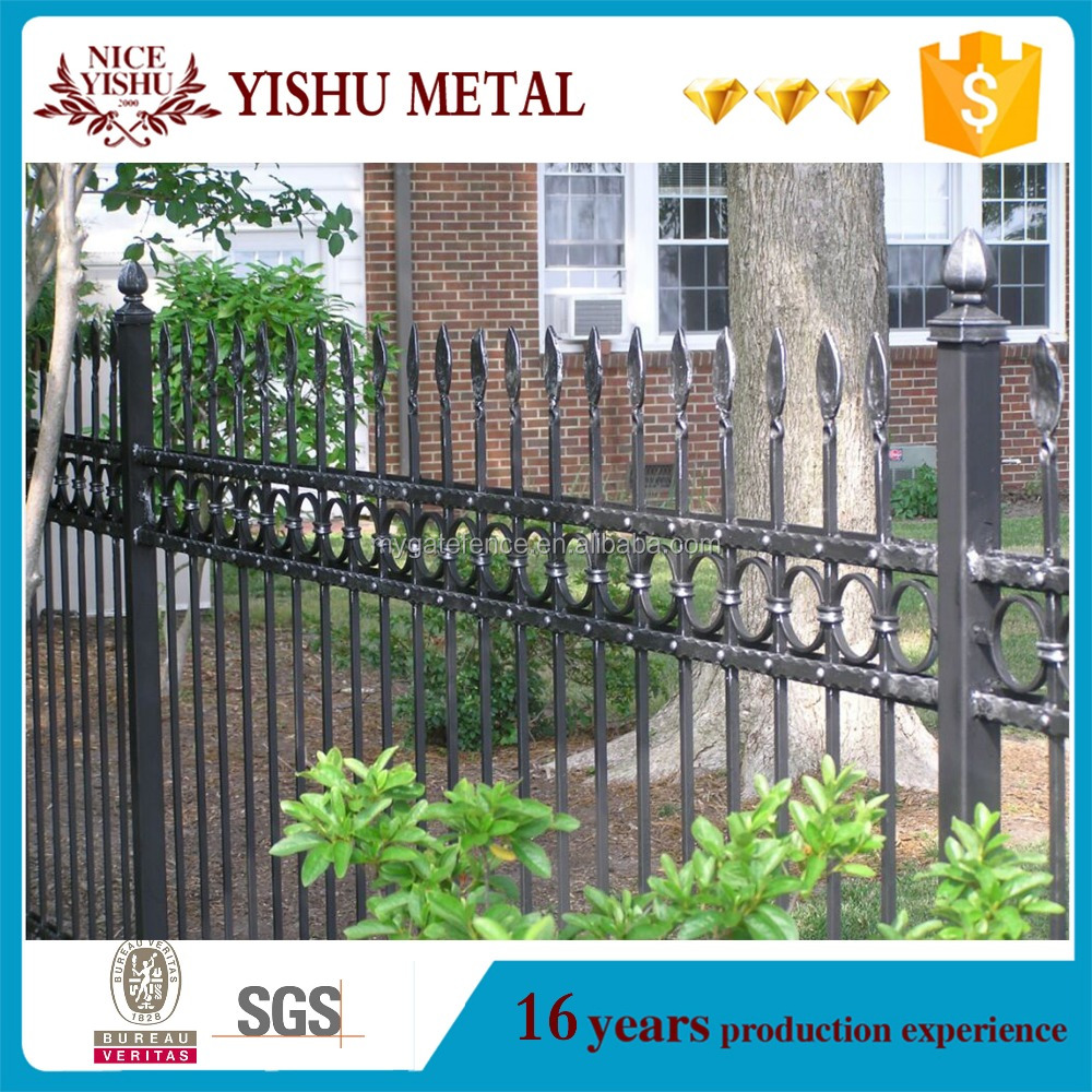 cheap wholesale Ornamental used wrought iron fence panels for sale