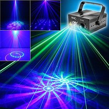 SUNY 3 Lens 12 Pattern GB Colors Mini Portable Party Lights LED Stage Laser Light Disco Dj Light Remote Control Sound Activated