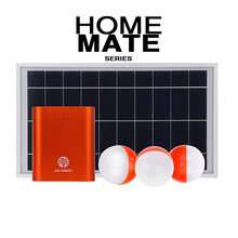 Small House Lighting Portable Mini Solar Panel System with 3 LED Bulbs
