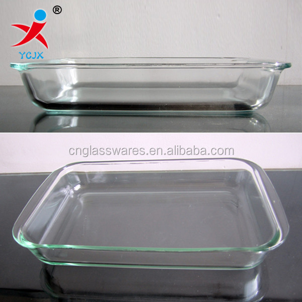 borosilicate pyrex glass baking dish/glass baking plate