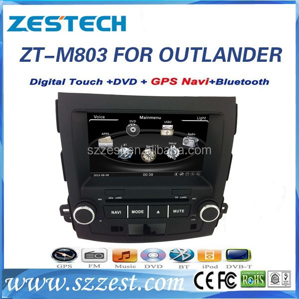 ZESTECH 2 din audio player gps dvb-t2 with car radio for Mitsubishi OUTLANDER EX /for Peugeot 4007/ for Citroen