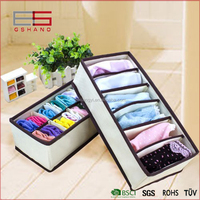 Underwear Socks Ties Collapsible Divider Closet Container fabric underware box