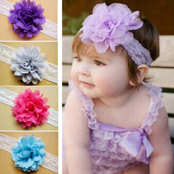 z a baby hair accessories girls lace artificial