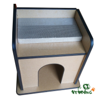 The Corrugated with stylish pet house of Cat Scratcher