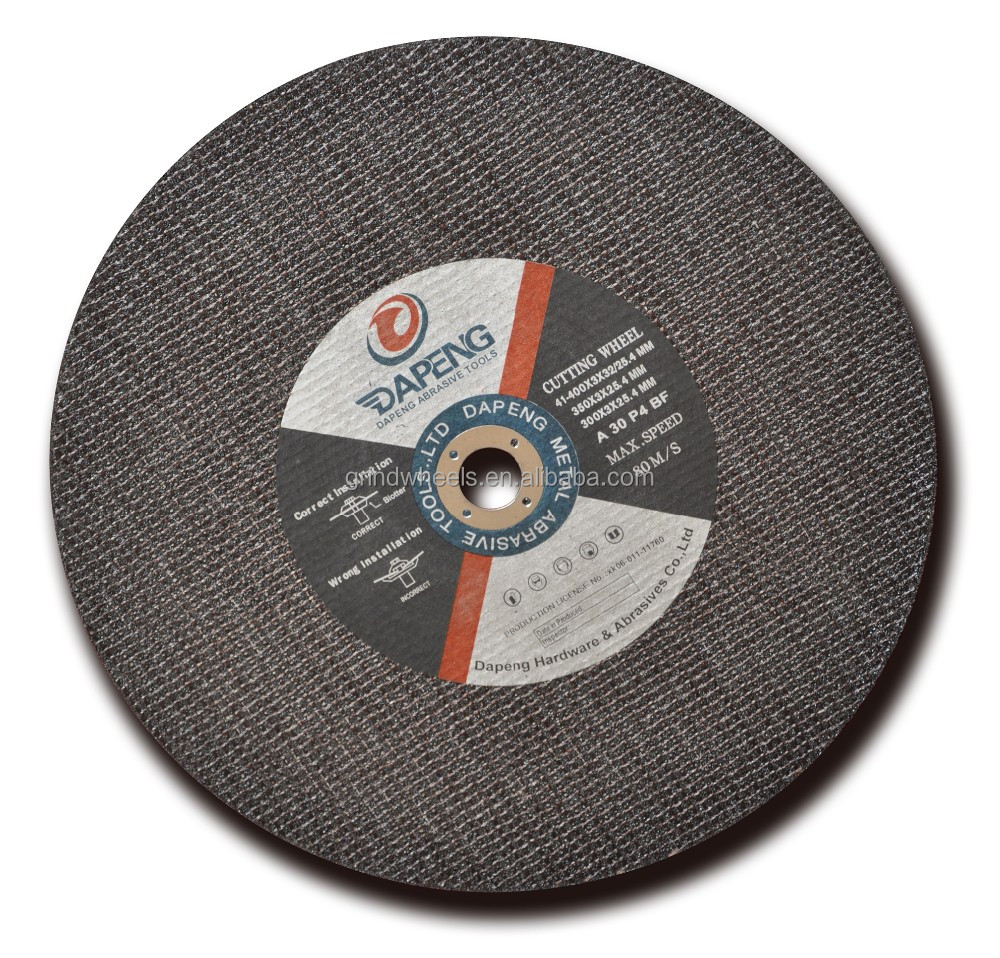 405x3x25.4mm Precision abrasive tools metal cutting disk