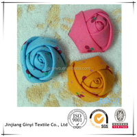 decorative handmade rose ribbon flowers for dresses, christmas decoration flowers