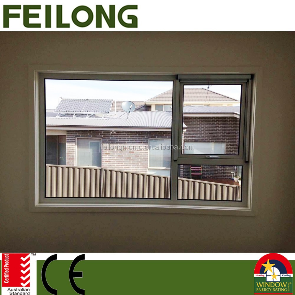 Exported Aluminum Awing Window With Retractable Flyscreen Passed AS2047 Australian Standard