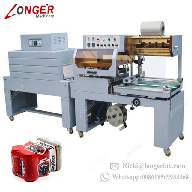 Factory Price Automatic PET Bottle Cap Thermal Wrap Equipment Book Packaging Sleeve Cutting Box Film Shrink Wrapping Machine