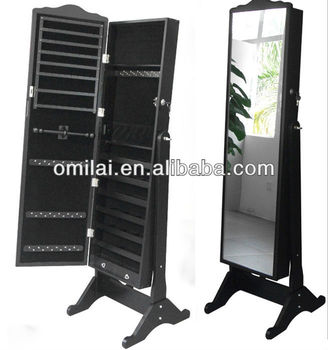 Omilai classic wooden antique commode 410101 jewelry cabinet mirror