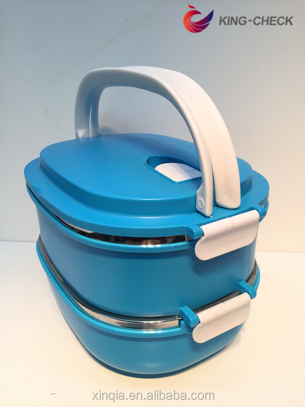 New premium two layer stainless steel lunch box with lock stainless steel lunch box bentgo kids