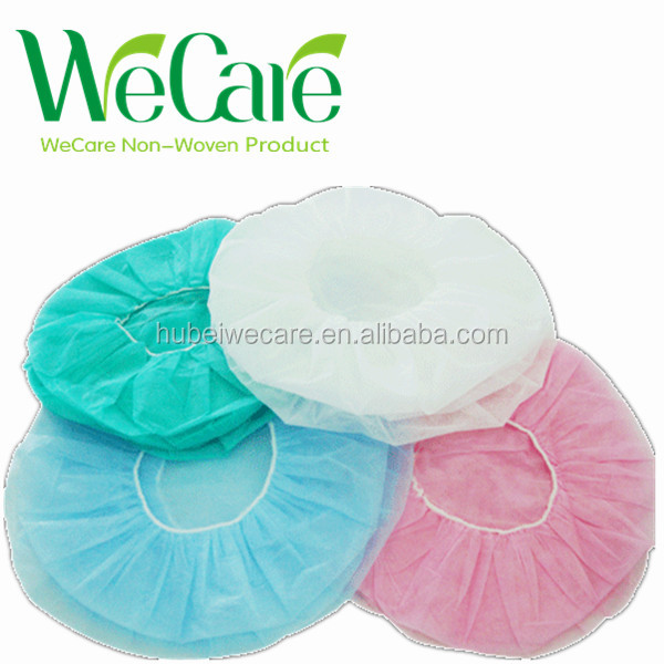 Disposable PP non-woven bouffant cap, disposable bouffant hair net