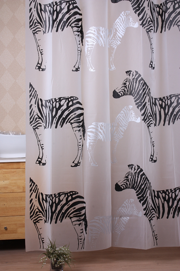 PEVA novelty custom bathroom transparent shower curtain
