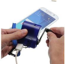 DC 6V 300mA USB Hand Crank Manual Dynamo Cell Phone Emergency Charger For MP4 Mobile Phone Tablet Outdoor Power Supply