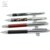 2017 Alibaba China supplier stock metal twist ballpoint pen with leather rubber