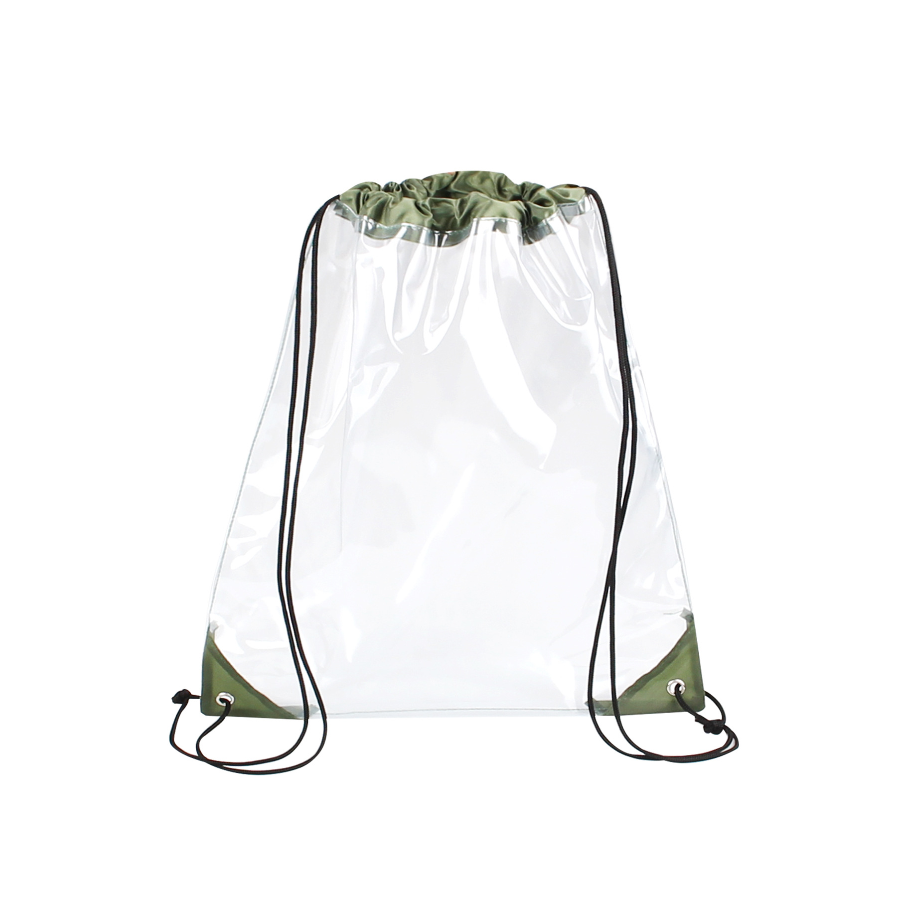 Promotional Transparent PVC Clear Drawstring Backpack Bags