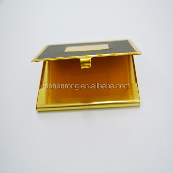 golden metal stainelss steel id card case wtih letter open set, card holder