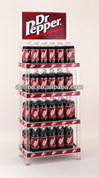 Energy drink display, retail store floor stand soft drink rack, supermarket promotional stand