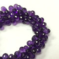 #280CM Natural Tear Drops Gemstone Loose Beads Amethyst