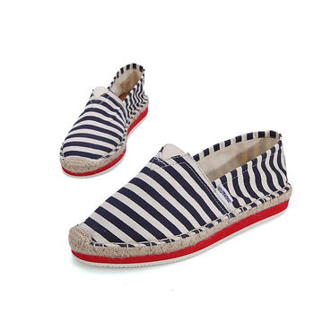 Wholesale Stripe Printed Canvas Shoes Espadrille Linen Shoes