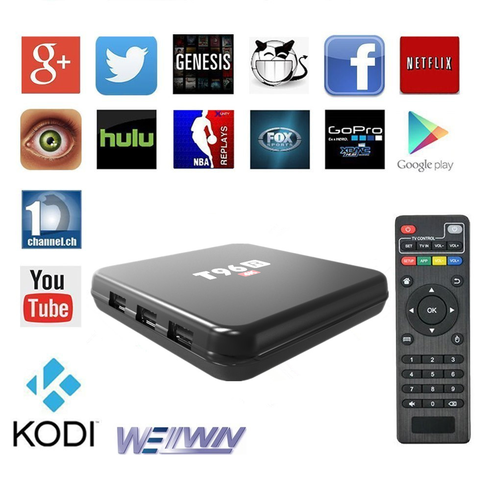 Attractive And Durable Smart TV Box T96R 2G/8G Android 5.1 Rockchip RK3229 Quad Core 4K Kodi OEN Android TV Box