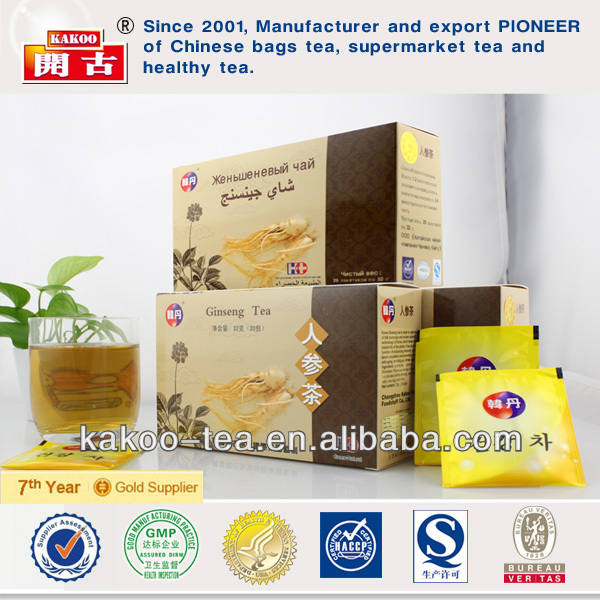 100% herbal natural ginseng tea instant tea granules korean ginseng tea
