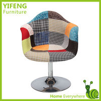 Bar Chair Swivel Colorful Metal Base(factory manufacturer)