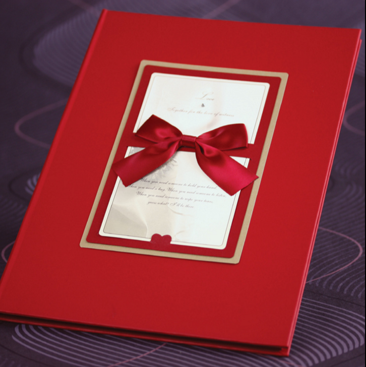 Red perfect wedding invitation card for opening ceremony