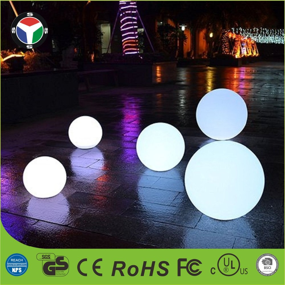 30cm RGBW color changing waterproof rechargeable led mood light ball night light