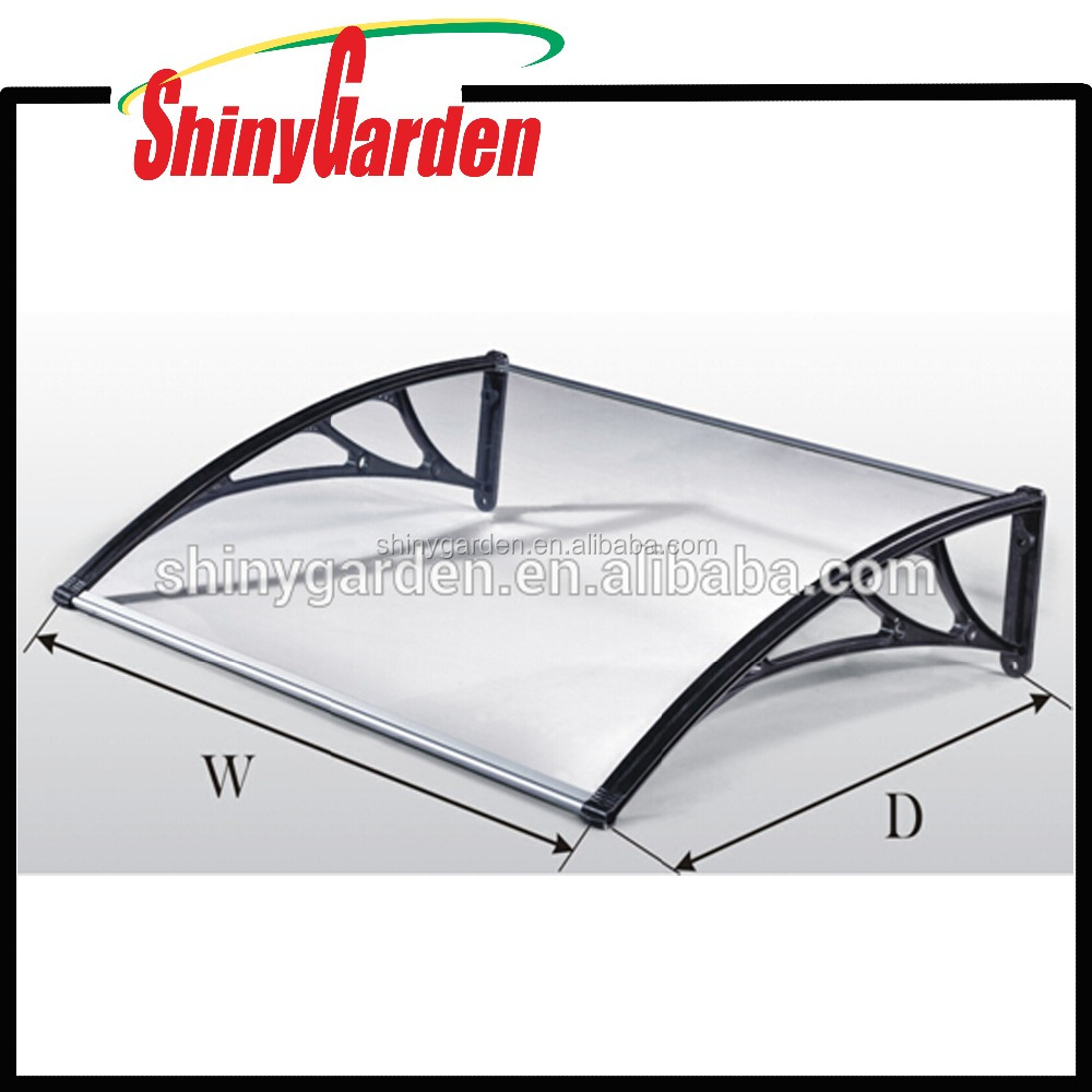 Cheap Poly-Carbonate DIY Overhead Door Balcony Window Outdoor Awning Canopy Patio
