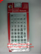 High Quality Silvery Big Buttons universal Jumbo remote control with blister package ZF LCD REMOTE FACTORY