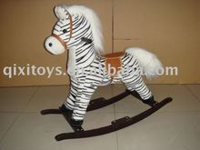 plush rocking horse(zebra), childern animal rider toy