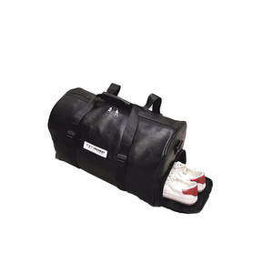 High Quality Mens Sports Duffel Gym Waterproof Leather Travel Bag With Sport Shoes Bag