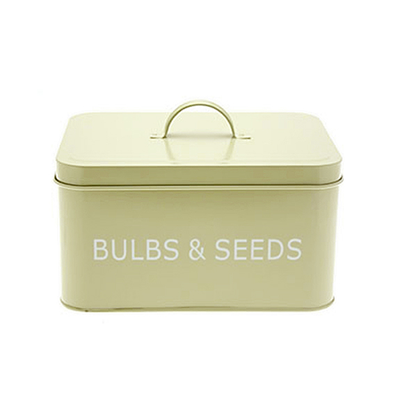 Metal Retro Style Gardening Bulbs And Seeds Tin